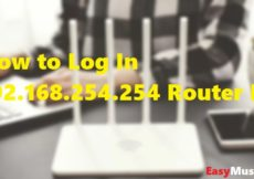Log In 192.168.254.254 Router IP Address