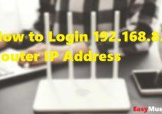 Login 192.168.8.1 Router IP Address