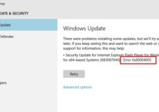 Update Error 0x80004005 in Windows 10