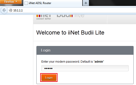 10.1.1.1 IP Admin Login