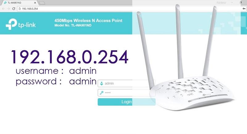 192.168.0.254 IP Admin Login