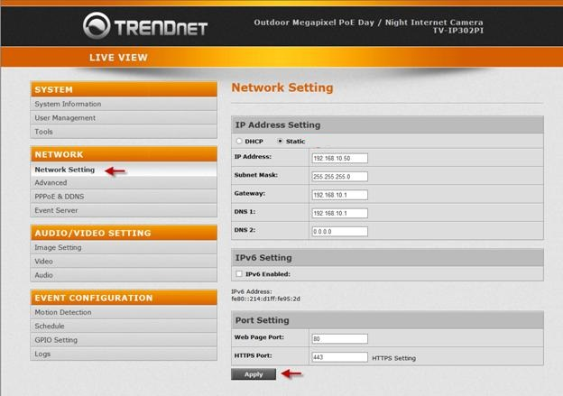 192.168.10.1 IP Router Admin Page