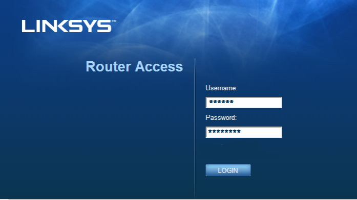 192.168.1.10 - Linksys Router Login