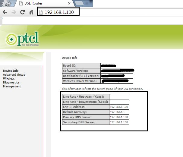 192.168.1.100 IP Admin Login